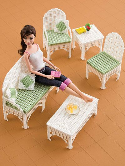 36 Best Plastic Canvas Barbie Furniture Images On