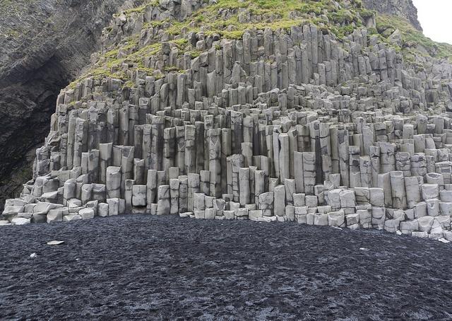 Columnar Basalt, Reynisfjara, Vestur-Skaftafellssysla, Iceland