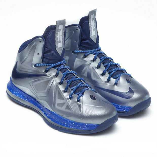 Lebron shoes 2013 Lebron 10 Metallic Silver Blue Black