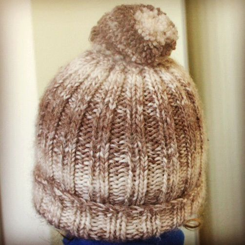 Knitting Pattern Ribbed Bobble Hat : 351 best images about Knit - Hats on Pinterest