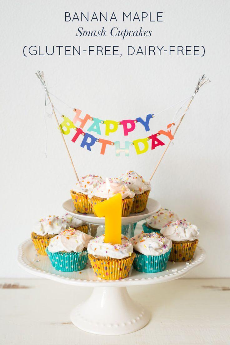 Surprising Banana Maple Smash Cupcakes Gluten Free Dairy Free Smash Cake Personalised Birthday Cards Paralily Jamesorg