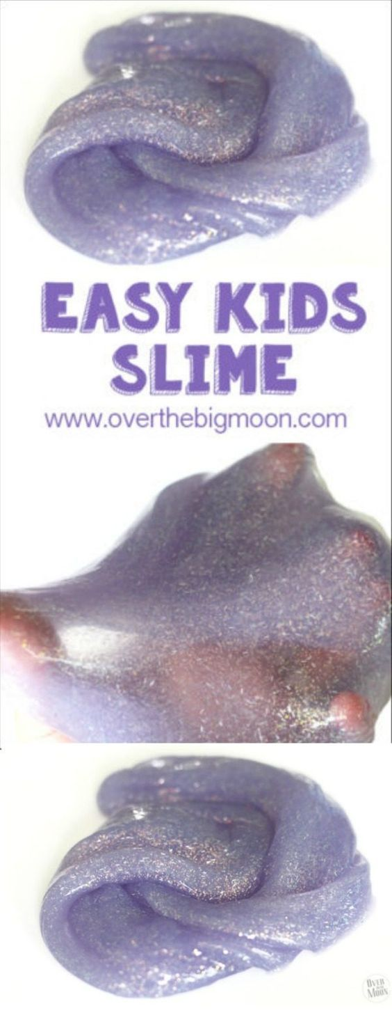 Slime | This easy slime recipe will keep the kids happy for a long time! It's a great kids craft and has also been called Gak or flubber. Over the Big Moon for TodaysCreativeLife.com
