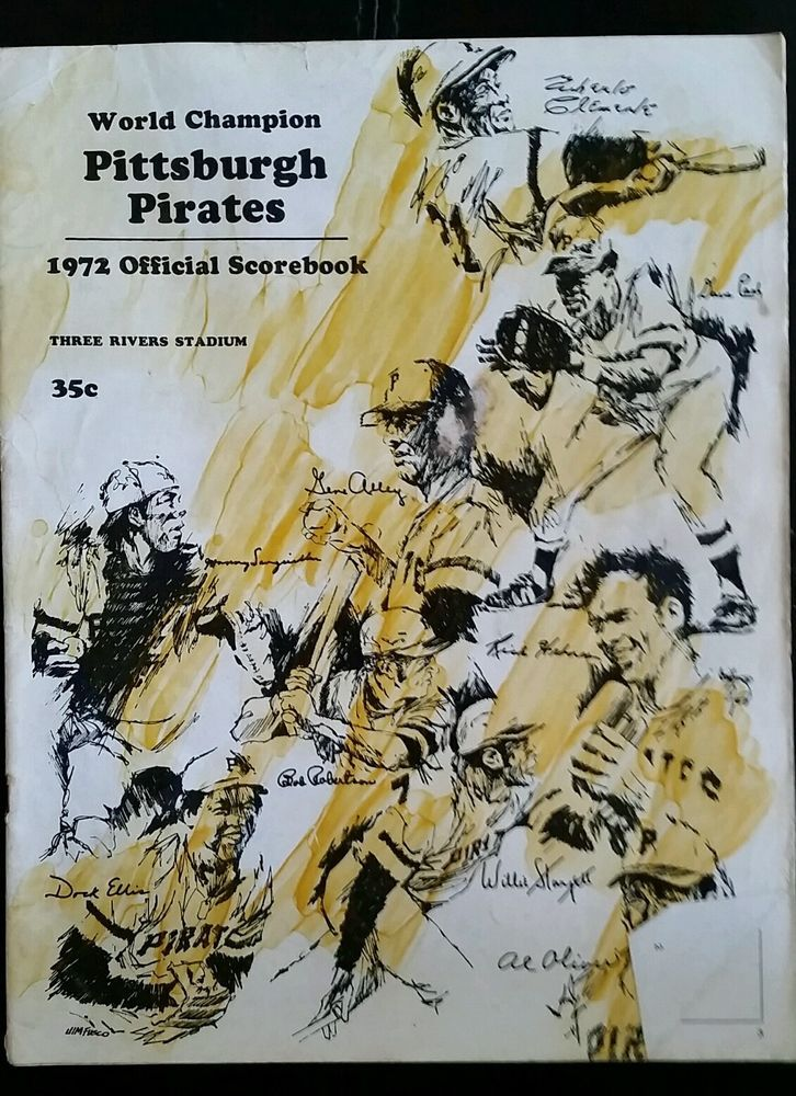 1972 Used MLB Official Pittsburgh Pirates World Champions Score-book  #PittsburghPirates