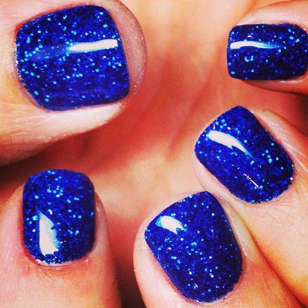 blue glitter paint! <3