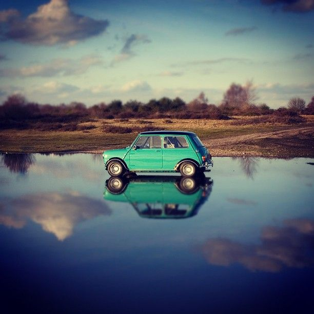 Matts Mini in the biggest puddle ever by John Rampton Photography on Flickr.