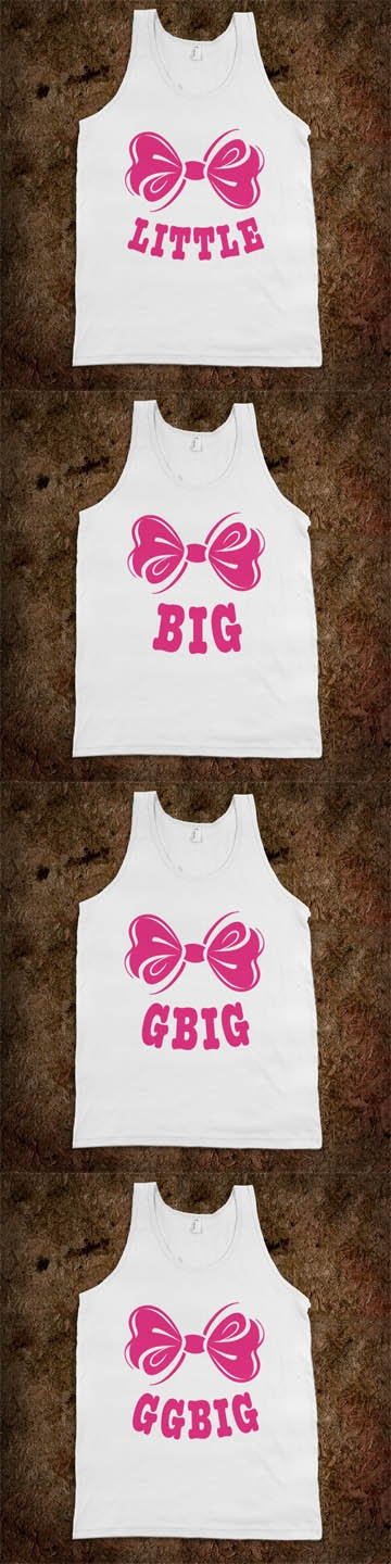 Big Sis Lil Sis Reveal Frat Tanks - Little, Big, GBig, GGBig - A SWEET Frat Tank for every member of your sorority family! CLICK HERE to purchase ;) Buy 1 or 100 and personalize with your name or sorority!