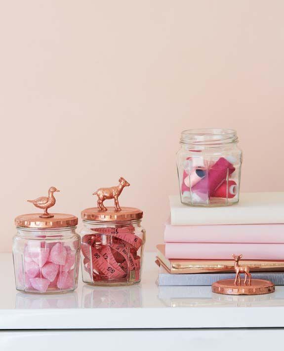 Reuse your empty jam jars.