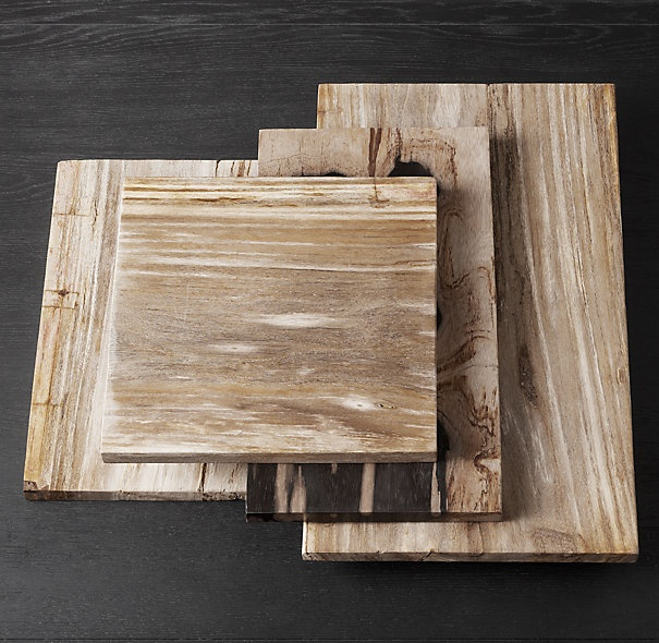 Restoration Hardware - Petrified Wood Cheese Boards