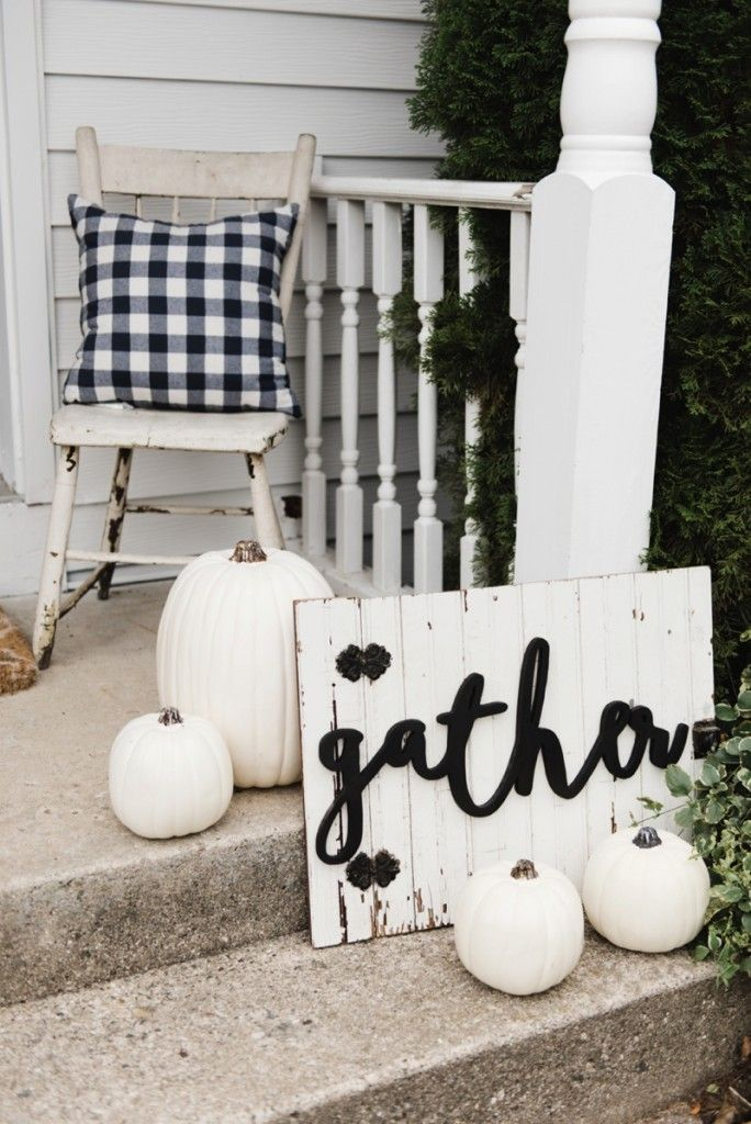 Buffalo Check Fall Decor On The Back Stoop Love Pinterest And Home
