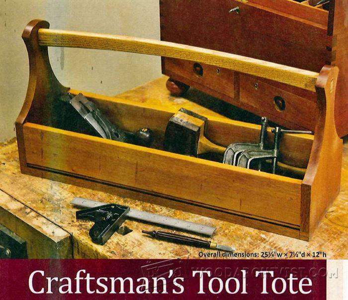 Tool Tote Plans - Workshop Solutions Plans, Tips and Tricks | WoodArchivist.com