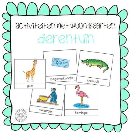 Activiteiten met woordkaarten | Thema DIERENTUIN