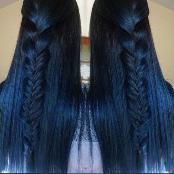 Midnight Blue Hair Weave
