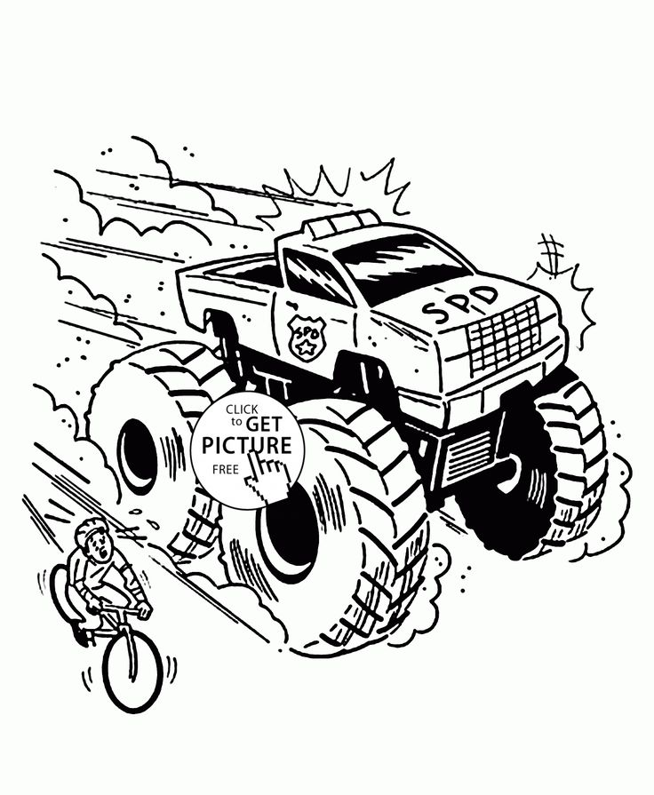 Monster Truck is Very Fast coloring