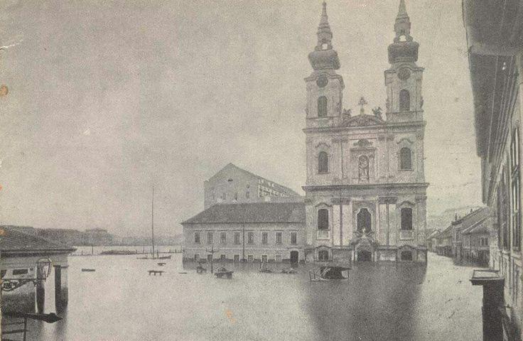 ...akkor a Duna megint nem cicózott!! Batthyány-tér,Budapest 1876
