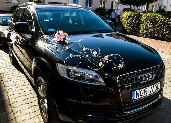 Decoracion para carro de novios