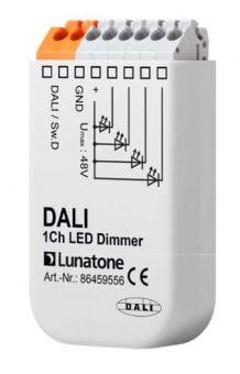 LUNATONE 86459556 DALI 1 Kanal LED Dimmer CV, 12VDC-24VDC, Switch Dim 8A