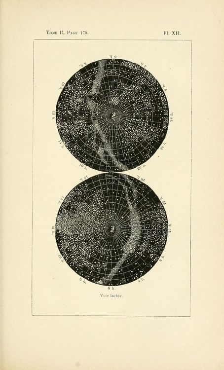 Plate XII. Voie Lactée. Milky Way. 1895 edition.