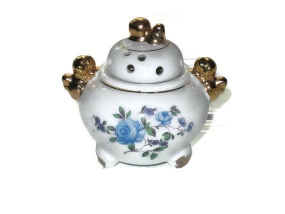 Vintage Japanese Incense Pot Collectible Pot by VintageCastaways