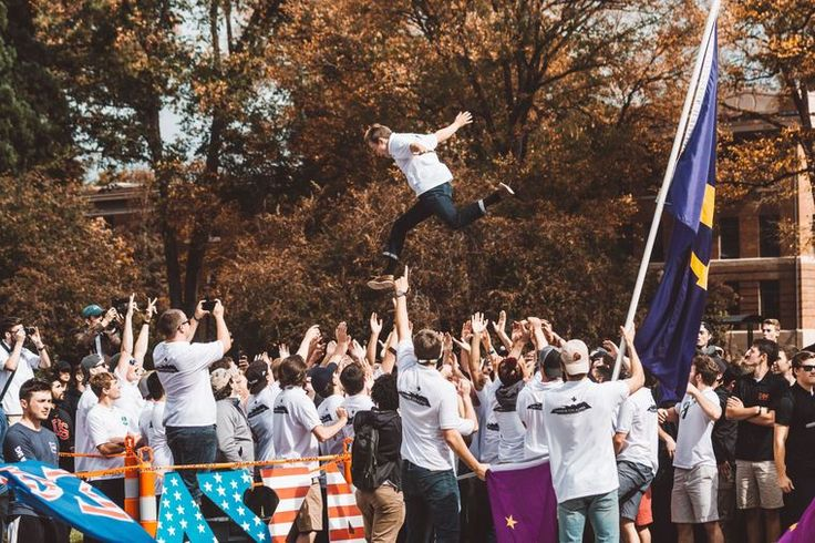 """If you're a member of a fraternity or sorority, you've been likely been looking forward to what is known as """"Jump Day"""" at Oregon State University. If you are not affiliated with Greek Life, you're probably wondering why hundreds of guys want to launch each other into crowds for two hours on a random Saturday afternoon. However, there's more to this seemingly silly event than just trying to get your new member the most hang-time in the air."""