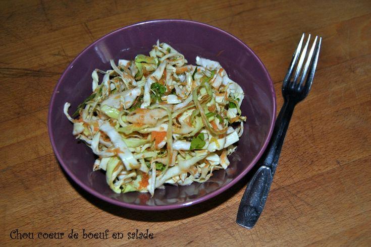 Chou coeur de boeuf en salade