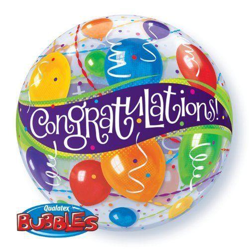 Congratulations balloons bubble balloon http://www.wfdenny.co.uk/p/congratulations-balloons-bubble-balloon/2122/