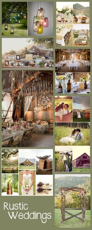 Rustic Barn Weddings... love all of this!