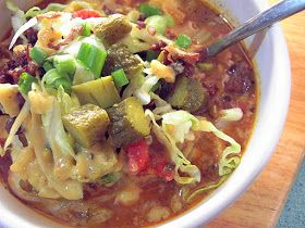 """Vegan Thyme: Vegan Cheeseburger Soup with """"The Works"""" (Dr. Neal Barnard Would Love This!)"""