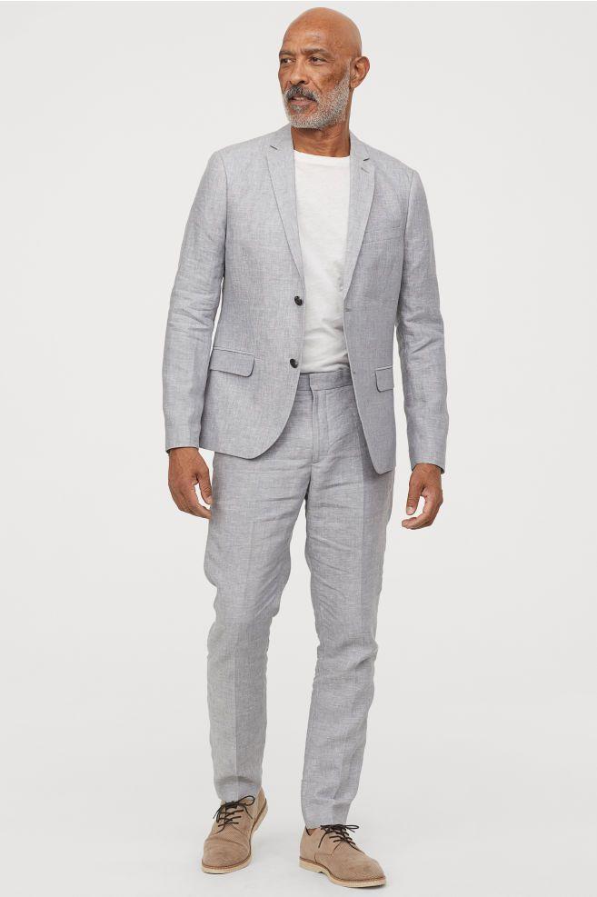 Slim Fit Linen Suit Pants With Images Mens Linen Pants Mens
