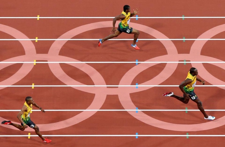 A Jamaican 1,2,3! Bolt, Blake and Weir take gold, silver and bronze respectively in the men's 200m final at the London 2012 Olympic Stadium - what an achievement! http://l2012.cm/OOe7ko  https://www.facebook.com/London2012