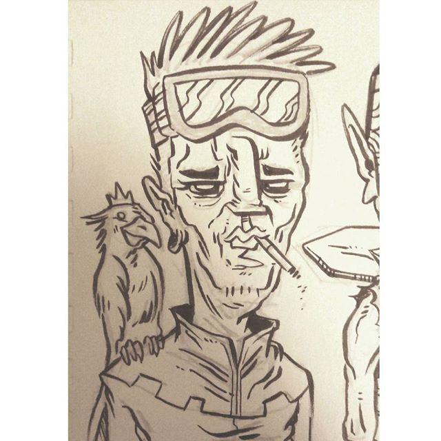 #kenny_poppins #dailydoodle #drawing #sketchbook #inking #justforfun