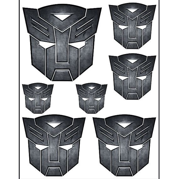 INSTANT DOWNLOAD TRANSFORMERS ( 4 sizes ) - for Balloon, Stickers, Lollipop, Favor bags, Cups - Printable Files