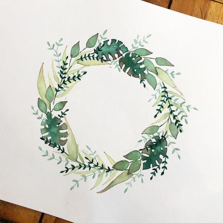 Instagram floreal #watercolor #nature #floreal