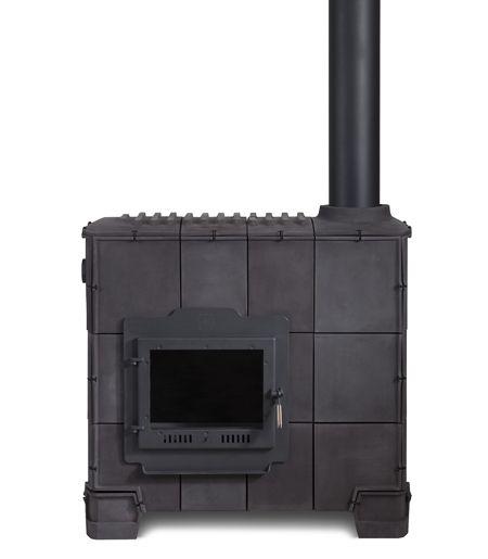 Dutch designer Dick van Hoff presented wood-burning #stoves made of #tiles for Dutch ceramic manufacturers Royal Tichelaar Makkum