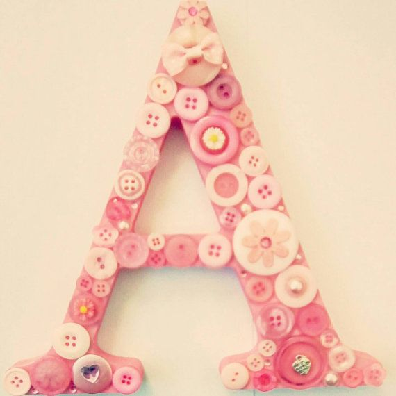 25 best ideas about decorated wooden letters on pinterest for Alphabet decoration