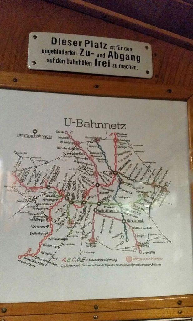 U-Bahn Netz vor 50.Jahren Berlin (Historische U-Bahn 2017)