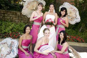 Cherry Blossom Wedding Ideas: The Knot, Bridesmaids, Bridesmaid Dresses, Japan Cherries Blossoms, Japanese Cherry Blossoms, Cherries Blossoms Wedding, Wedding Photos, Japanese Cherries Blossoms, Cherry Blossom Wedding