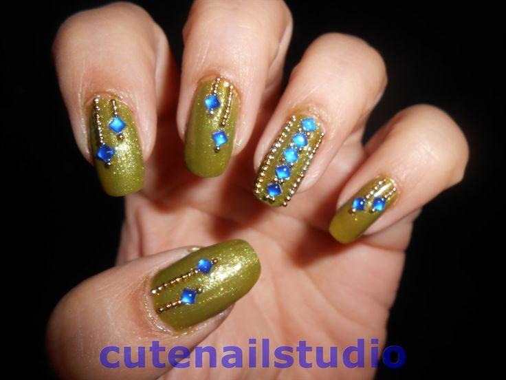 professional nail designs | Cute nails: Indian ethnic nail art :1