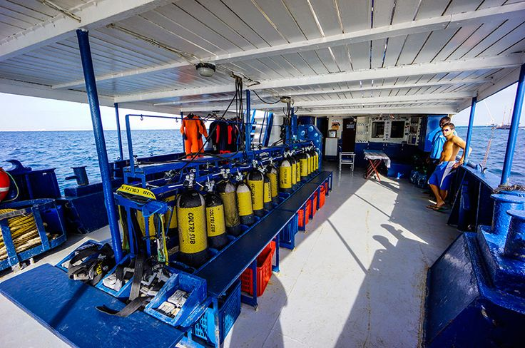 A very large and comfortable area for scuba divers to prepare for their adventures