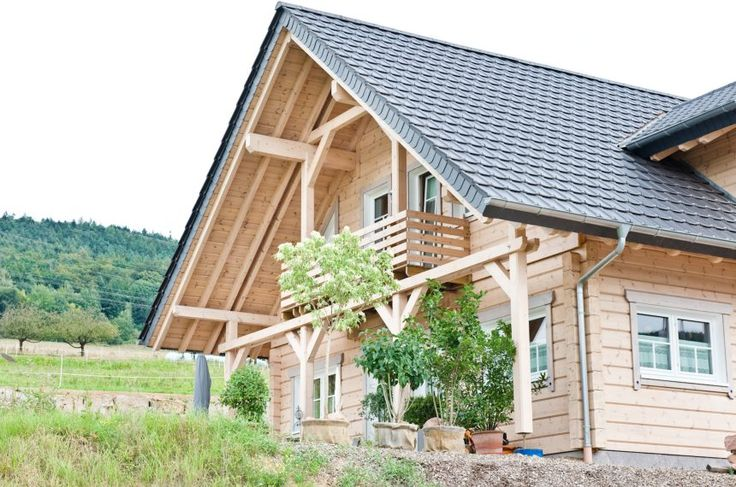 A country-house filled with natural light. Honka log home in Frankfurt area, Germany.