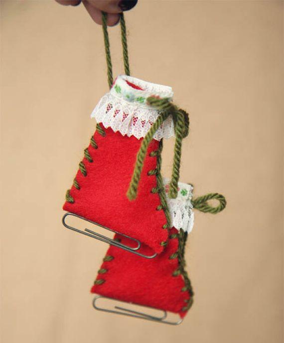Cute and easy ornament ornaments for the kids - Bolas de navidad de fieltro ...