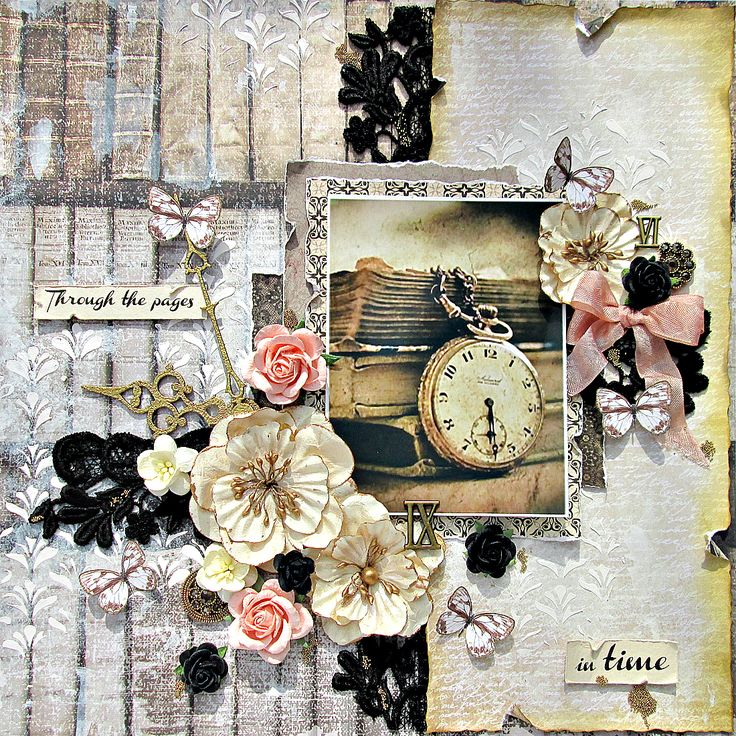through the pages in time  ~scraps of darkness - Kaisercraft - Art of Life Collection