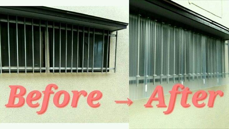 賃貸プチプラdiy 波板でお風呂の窓の目隠し 防寒対策 窓 防寒 リノベーション リフォーム 賃貸 一軒家