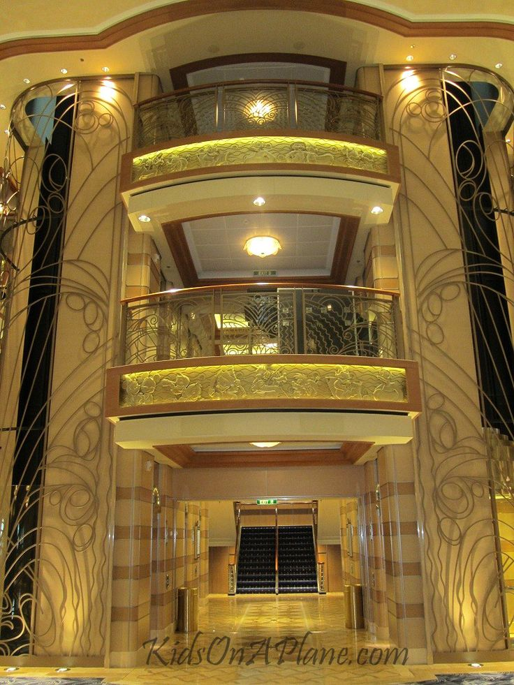 Disney Cruise Travel Pictures - Photo Tour of the Disney Dream - Elevator Entrance Deck 3 Disney Dream Cruise Ship