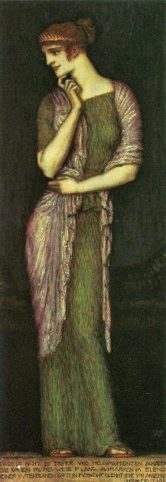 Franz Stuck (German 1863–1928), [Symbolism, Art Nouveau] The Beautiful Helena.
