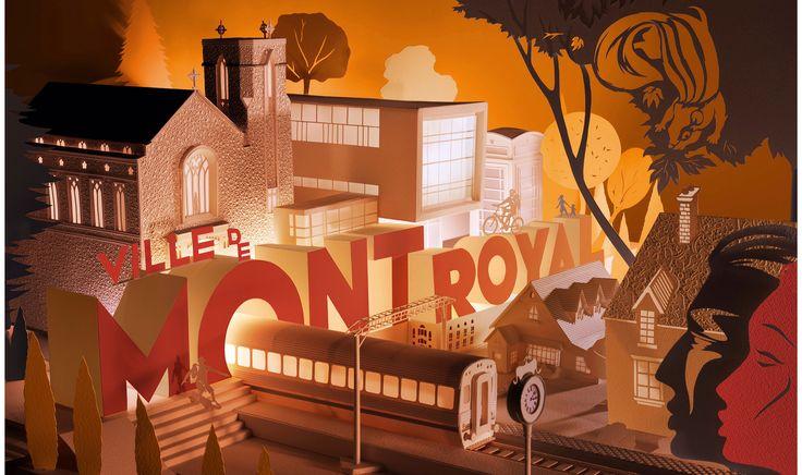 """Finished colour scheme 3D model """"Ville de Mont-Royal"""""""