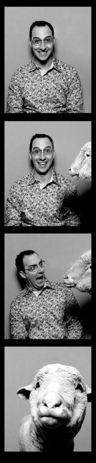 Buster's photobooth moment with a sheep. From Arrested Development.