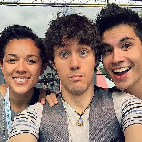 It's only polite to warn fans of what's coming before you blow their minds – Kurt Hugo Schneider did just that with a pre-performance snapshot with Sam Tsui and Kina Grannis. #VidCon #VidCon2015