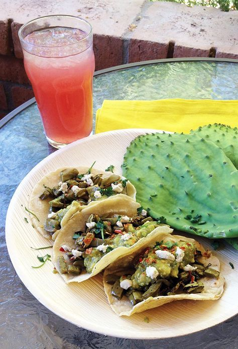 Chef Jason Wyrick's Vegan Cactus Tacos (tacos de nopales) make us long for meatless Mondays every day of the week!