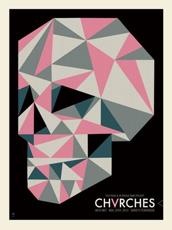 Chvrches concert poster by Methane Studios
