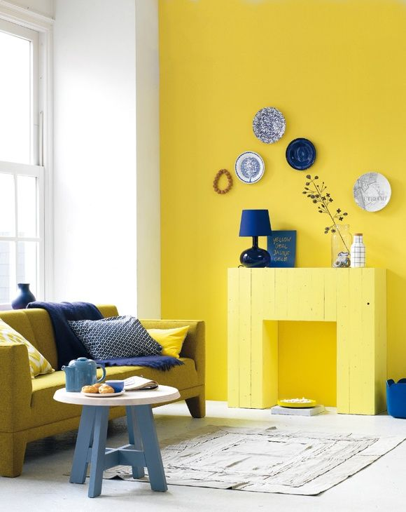 50 Yellow & Blue Rooms ToInspire - Style Estate -   You could maybe to this in your new home.